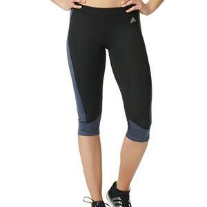 NWOT *Gray* Adidas Climalite Techfit Capri
